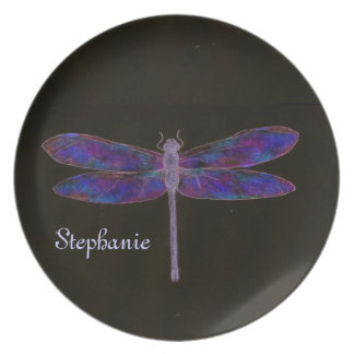 Iridescent Dragonfly Plates