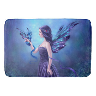 Iridescent Fairy & Dragon Art Bathroom Mat