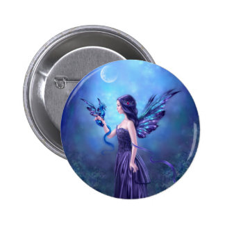 Iridescent Fairy & Dragon Art Button