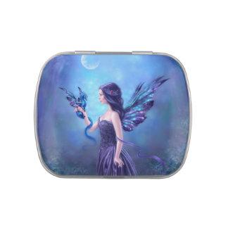 Iridescent Fairy & Dragon Art Candy Tin