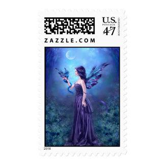 Iridescent Fairy & Dragon Art Custom Postage