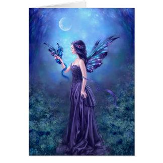 Iridescent Fairy & Dragon Art Greeting Card