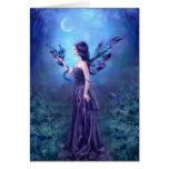 Iridescent Fairy & Dragon Art Greeting Card Cards