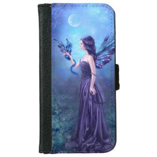 Iridescent Fairy & Dragon Art iPhone 6 Wallet Case