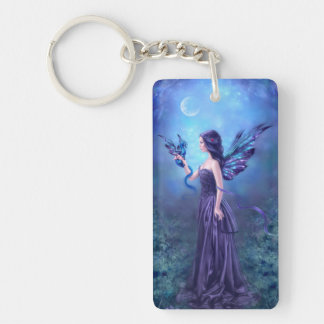 Iridescent Fairy & Dragon Art Keychain