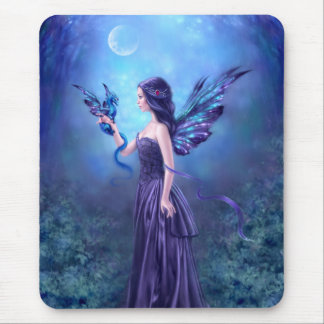 Iridescent Fairy & Dragon Art Mousepad