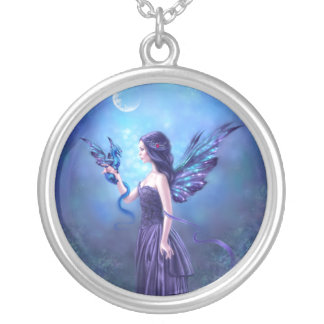 Iridescent Fairy & Dragon Art Necklace