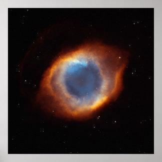 Iridescent Glory of Nearby Helix Nebula Posters
