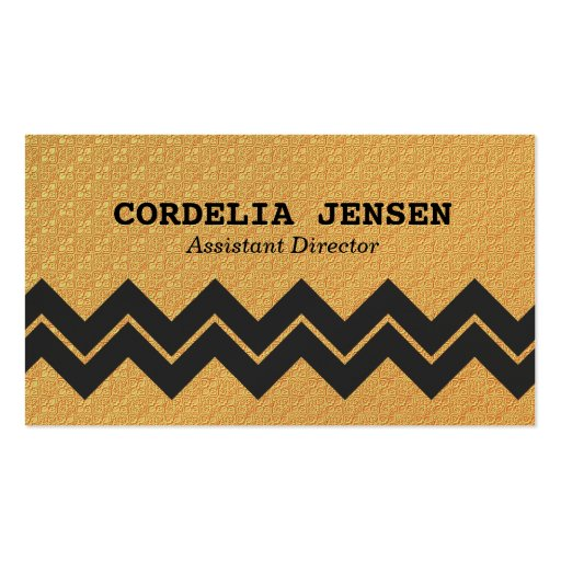 Iridescent gold zigzag stripe business cards zazzle for Iridescent business cards