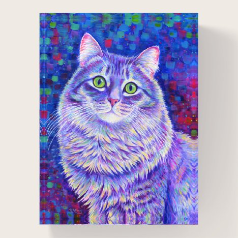 Iridescent Gray Tabby Cat Paperweight