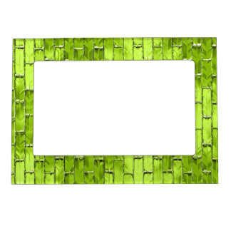 Iridescent Green Bricks Magnetic Picture Frame