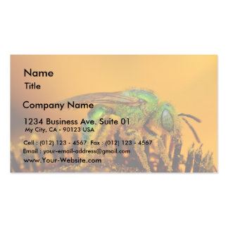 Iridescent Green Sweat Bees Business Card Template