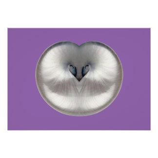IRIDESCENT HEART SHAPED MOTHER OF PEARL SHELL Art Poster