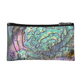 Iridescent Natural Jewel Abalone Mother of Pearl Cosmetic Bag