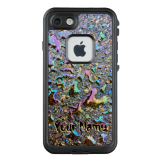 Iridescent Oil Drops on Pavement with Your Name LifeProof FRĒ iPhone 7 Case