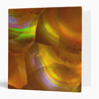 Iridescent orange fire opal 3 ring binder