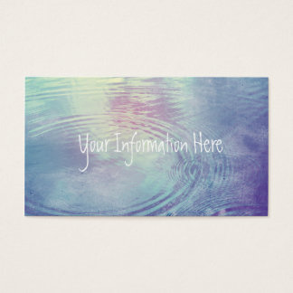 Iridescent Pastel Water Rings Business Card