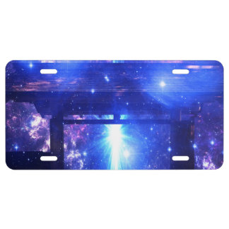 Iridescent Pathway to Anywhere License Plate