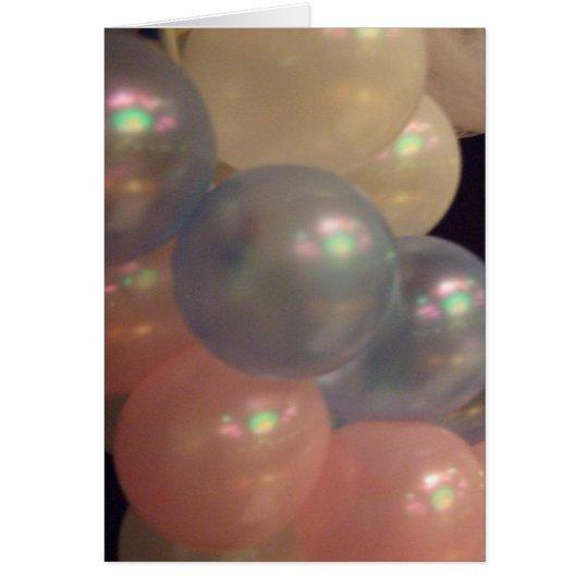 Iridescent Pearl Balloons Card