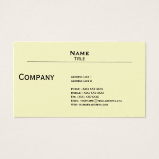 Iridescent Pearl Finish Business Card Template