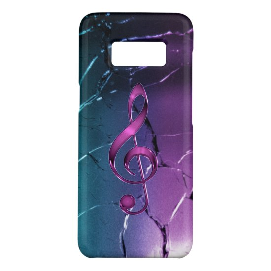 Iridescent Pink and Blue Music Clef Case-Mate Samsung Galaxy S8 Case