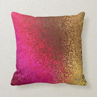 Iridescent Pink and Gold Throw PIllow