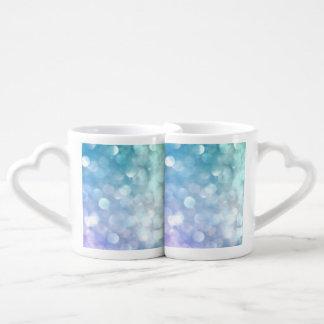 Iridescent Pisces Zodiac Symbols Coffee Mug Set