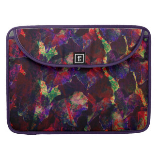 Iridescent Purple Multicolor Leaves Sophisticated Sleeve For MacBooks