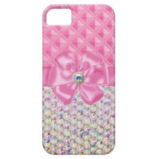 Iridescent Rhinestones Ribbon Bows Iphone Case iPhone 5 Covers