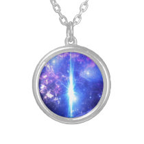 Iridescent Skies Silver Plated Necklace