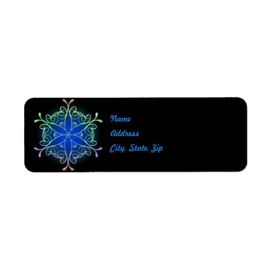 Iridescent Snowflake Address Label Template