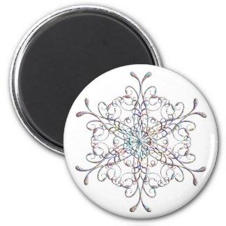 Iridescent Snowflake Magnet
