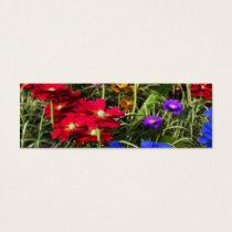 Iridescent Spring Bookmarks Mini Business Card