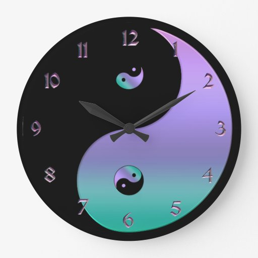Iridescent Yin Yang Clock