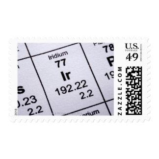 Iridium molecular formula stamp