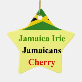 Irie de Jamaica Adorno Navideño De Cerámica En Forma De Estrella