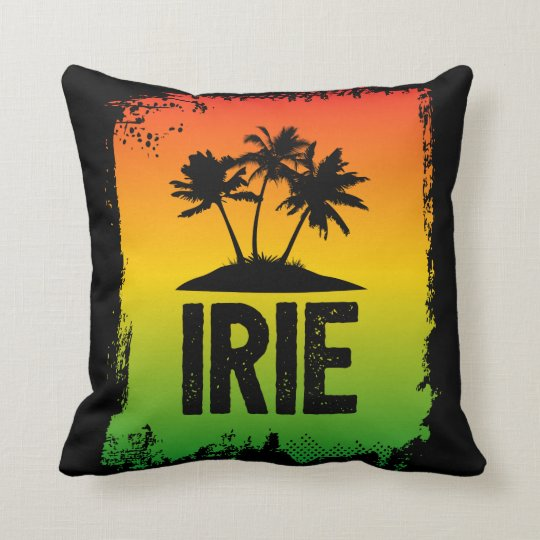 Irie Jamaican Chill Out Hello Slang Sunset Throw Pillow