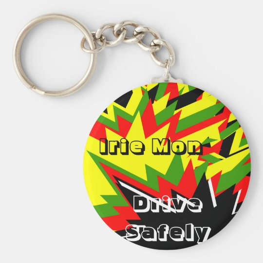 Irie mon keycahins-drive safely keychain