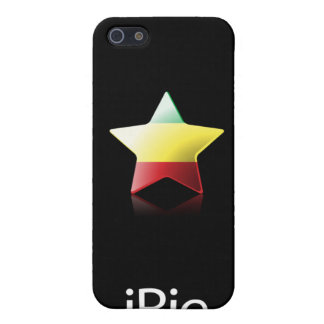 iRie Rasta Star on Black (iPhone 4 case) Cover For iPhone SE/5/5s