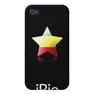 iRie Rasta Star on Black iPhone 4 case