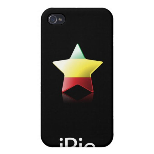 iRie Rasta Star on Black (iPhone 4 case)