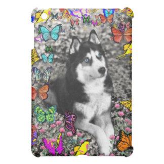 Irie the Siberian Husky in Butterflies iPad Mini Case