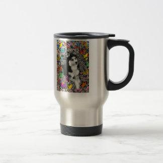 Irie the Siberian Husky in Butterflies Mug