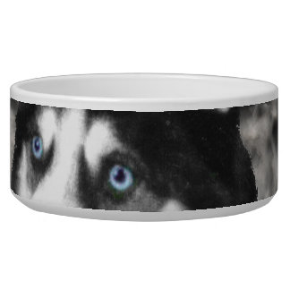 Irie the Siberian Husky in Flowers Dog Water Bowls