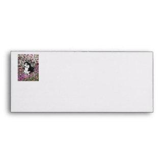Irie the Siberian Husky in Flowers Envelope