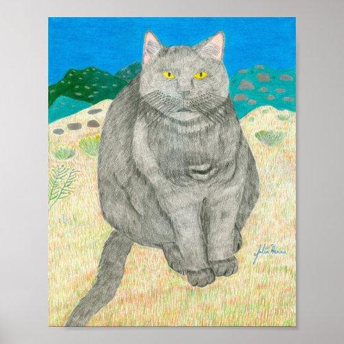 Irina The Cat At The Pinnacles by Julia Hanna