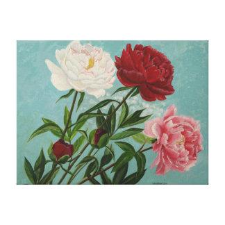 Irinas peonies gallery wrap canvas