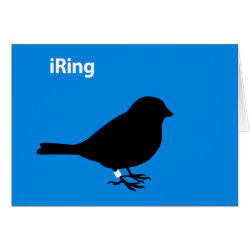 Greeting Card with iRing Blue design