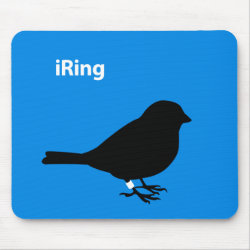 Mousepad with iRing Blue design