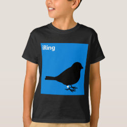 Kids' Hanes TAGLESS® T-Shirt with iRing Blue design